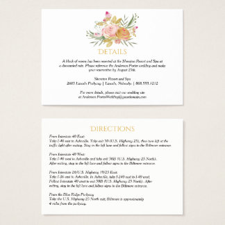 Pink Gold Watercolor Roses Enclosure Cards