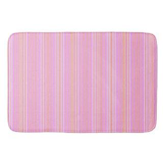 Pink & golden color stripes  Bath Mat