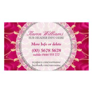 Pink Golden Solar Star Business Cards