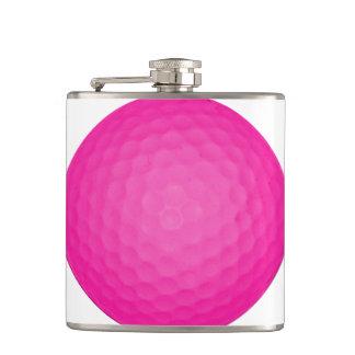 Pink Golf Ball Hip Flask