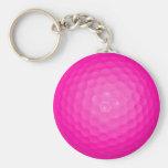 Pink Golf Ball Keychain