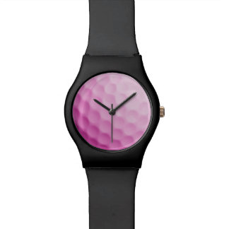 Pink Golf Ball Template Background Sports Texture Watch