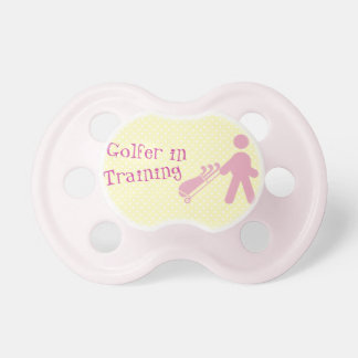 Pink Golfer in Training Baby Pacifier