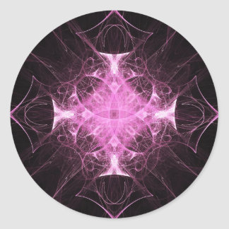 Pink Gothic Princess Fractal Stickers