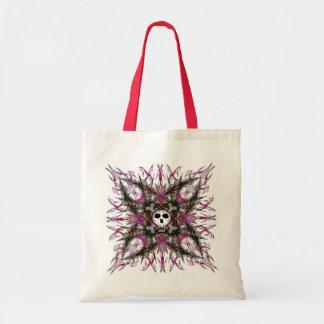 Pink Gothic Skull  Fractal Tote Bag