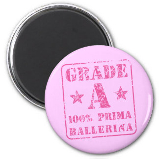 Pink Grade A Prima Ballerina 2 Inch Round Magnet