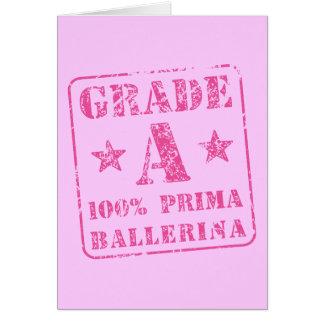 Pink Grade A Prima Ballerina Card