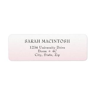 Pink gradient Address Labels