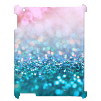 Pink Gradient Blue Teal Sparkle Trendy Glitter Cover For The iPad 2 3 4