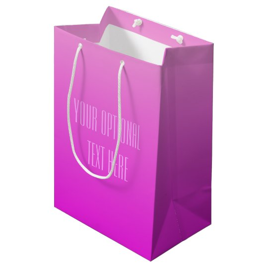 Pink Gradient custom text gift bags
