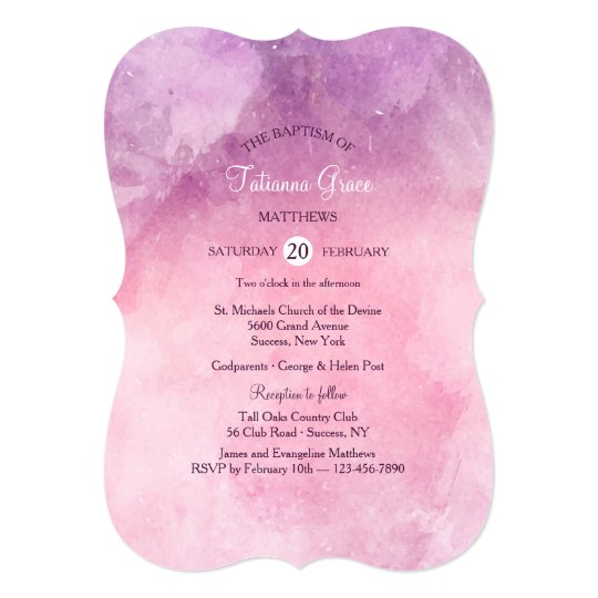 Pink Gradient Invitation