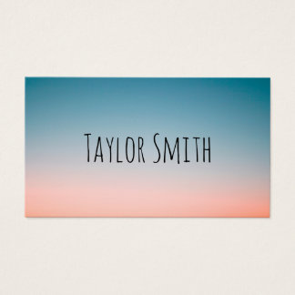pink gradient modern sunset trendy business card