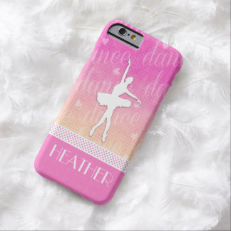 Pink Gradient Passionate Dancer with Hearts Barely There iPhone 6 Case