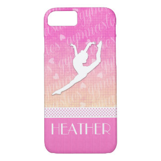 Pink Gradient Passionate Gymnastics with Monogram Case-Mate iPhone Case