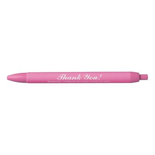 Pink Graduation Party Custom Favour Pens