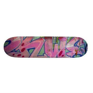 Pink graffiti skateboard. skate boards