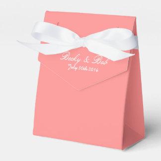 Pink Grapefruit Colored Wedding Favor Box