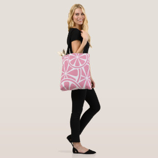 Pink Grapefruit Slices Tote Bag