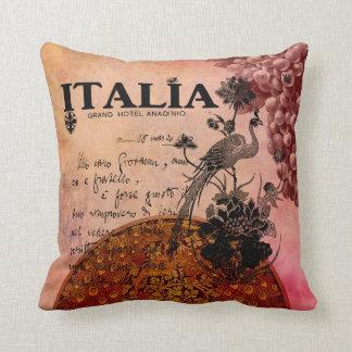 Pink Grapes Italia Throw Pillow