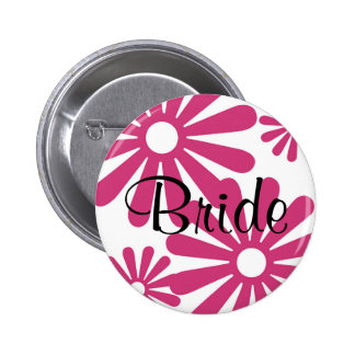 Pink Graphic Daisy Flower Pins