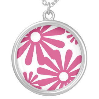 Pink Graphic Daisy Flower Jewelry