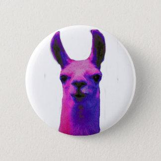Pink Graphic Llama 2 Inch Round Button
