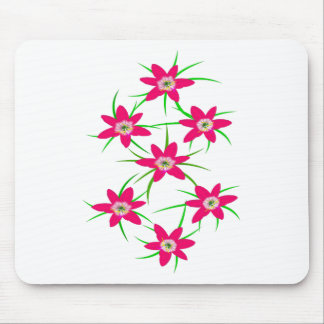 Pink Grass Flower Mouse Pad