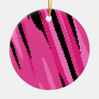 pink gray and black abstract ceramic ornament