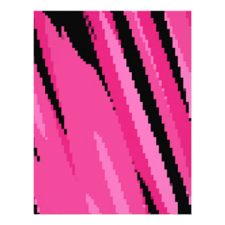 pink gray and black abstract letterhead