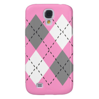 Pink, Gray, And White Argyle iPhone3 Case