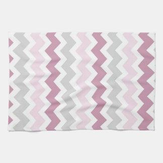 Pink Gray Chevron Kitchen Cloth Towel