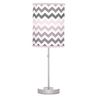 Pink & Gray Chevron Table Lamps