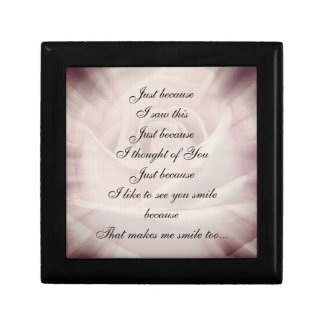 Pink / gray Country Chic Poem design Gift Box