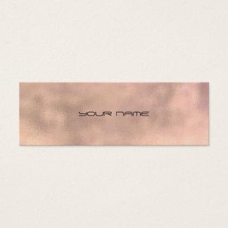 Pink Gray Gold Faux Linen Minimal Texture Urban Mini Business Card