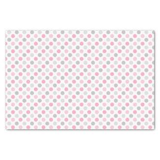 Pink Gray Polka Dots Tissue Paper