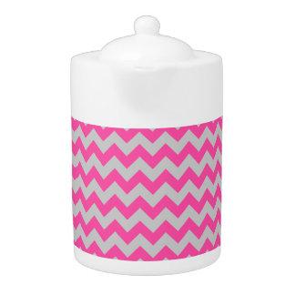 Pink Gray Zigzag Chevron Pattern Girly
