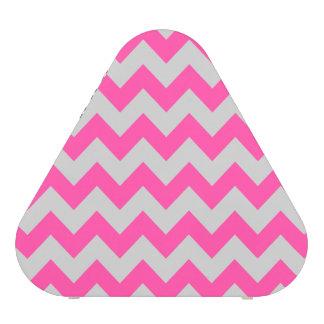 Pink Gray Zigzag Chevron Pattern Girly Blueooth Speaker