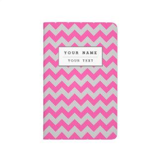 Pink Gray Zigzag Chevron Pattern Girly Journals