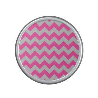 Pink Gray Zigzag Chevron Pattern Girly Speaker