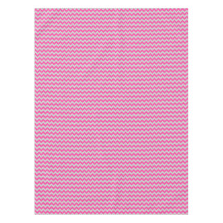 Pink Gray Zigzag Chevron Pattern Girly Tablecloth