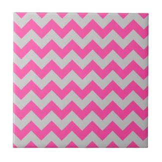 Pink Gray Zigzag Chevron Pattern Girly Tiles