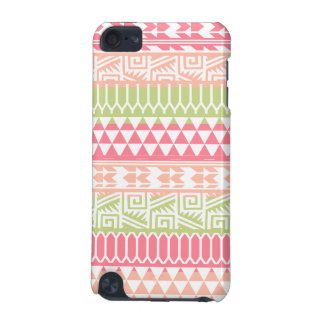 Pink Green Abstract Aztec Tribal Print Pattern iPod Touch 5G Cover