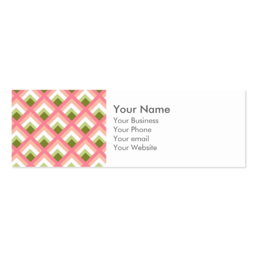 Pink Green Abstract Geometric Designs Color Business Card Templates
