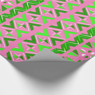 Pink & Green African Pattern