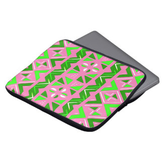 Pink & Green African Pattern Laptop Sleeve