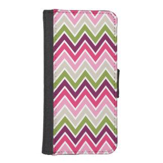 Pink & Green Chevron Stripe iPhone 5 Wallet