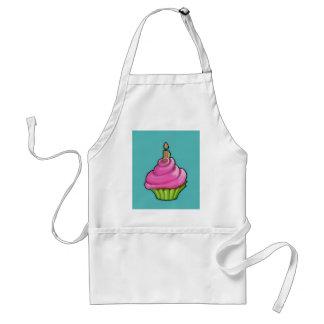 Pink & Green Cupcake aqua Standard Apron