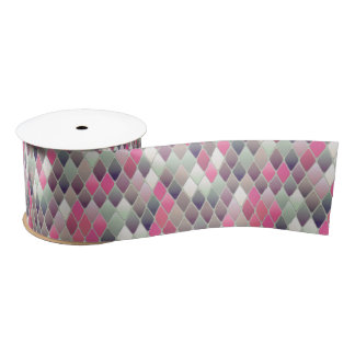 pink green diamond pastel ribbon satin ribbon