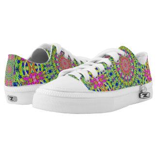 Pink/Green Kaleidoscope Burst Zipz Shoes