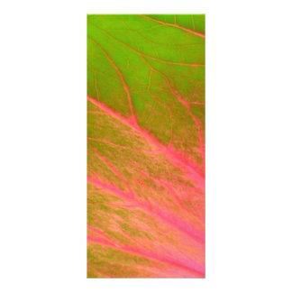 pink green leaf custom rack cards